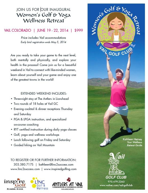 Vail Women's Golf & Yoga Wellness Weekend Flyer